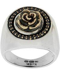 Ugo Cacciatori - Rose Detail Ring - Lyst