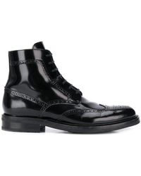 3a00bba4698 Saint Laurent Army Lace Up Ankle Boots in Black for Men - Lyst