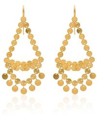 Marie-hélène De Taillac Dancing Sequins Chandelier Earrings - Metallic