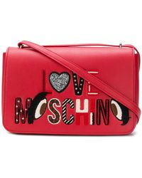 Love Moschino - Applique Crossbody Bag Red - Lyst