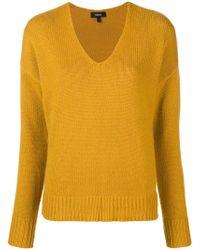 Lyst Knit Neck Cashmere Theory Crew 415 Farfetch Sweater Sweater · wBxxUzgqf0