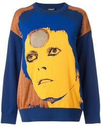 Undercover - Blue Bowie Sweater - Lyst