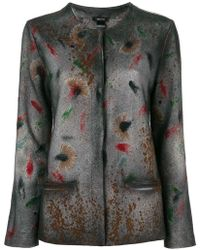 Avant Toi - Printed Concealed Front Jacket - Lyst