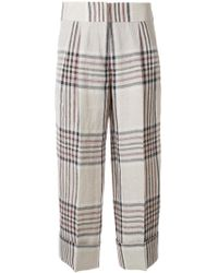 Antonio Marras - Checked Cropped Trousers - Lyst