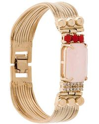 Iosselliani - Elegua Rose Quartz Fringed Bracelet - Lyst