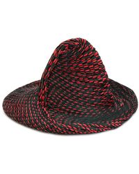 Issey Miyake   Contrast Pleated Detail Hat   Lyst