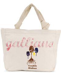 John Galliano - Logo Print Tote - Lyst