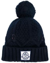 Moncler Gamme Bleu - Ribbed Knit Bobble Hat - Lyst