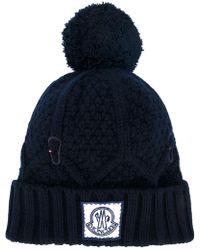 Moncler Gamme Bleu - Ribbed Knit Bobble Hat - Lyst