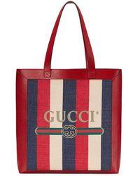 Gucci - Borsa shopping Print misura media - Lyst