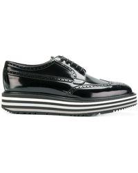 Prada - Lace-up Platform Shoes - Lyst