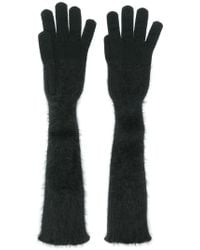 Cruciani - Long Knitted Gloves - Lyst