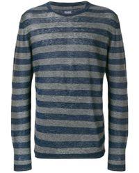 Woolrich - Striped Long-sleeve Sweater - Lyst