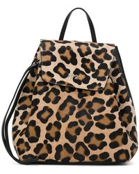 N°21 - Animal Print Drawstring Backpack - Lyst