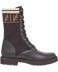 Fendi - Rockoko Combat Boots - Lyst