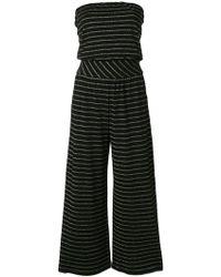 Patrizia Pepe - Striped Off-shoulder Jumpsuit - Lyst