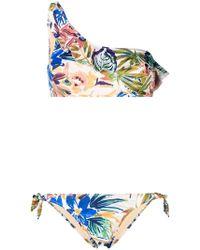 Emmanuela Swimwear - Flower Love One Shoulder Bikini - Lyst