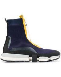 DIESEL - High Top Sock Sneakers With Zip Closure - Lyst