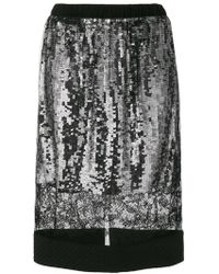 Vera Wang - Lace Panel Sequin Skirt - Lyst
