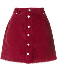 Tommy Hilfiger - Corduroy Buttoned Skirt - Lyst