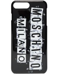 Moschino - Black And White Iphone Plus Css Case - Lyst