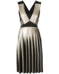 Yigal Azrouël - Foil Pleated Dress - Lyst