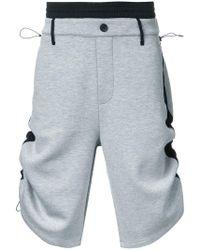 Public School - Side Stripe Track Shorts - Lyst