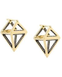 Noor Fares - Octahedron Dormeuse 3d Earrings - Lyst