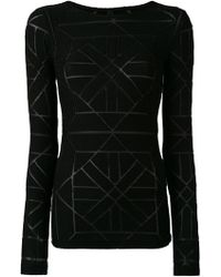 Gareth Pugh - Sheer Panel Detail Sweater - Lyst