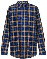 Balenciaga - Oversized Check Shirt - Lyst