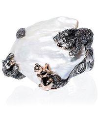 Bibi Van Der Velden - 18k Rose Gold Animal Family Lion Ring - Lyst