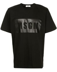 MSGM - Logo Print T-shirt - Lyst