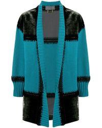 Alberta Ferretti - Patchwork Cardi-coat - Lyst