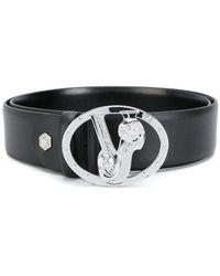Versace Jeans - Monogram Buckle Belt - Lyst