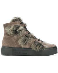 Kennel & Schmenger - Shearling Hi-top Sneakers - Lyst
