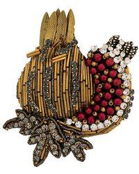 N°21 - Embellished Pin Badge - Lyst