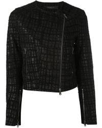 FEDERICA TOSI - Embroidered Biker Jacket - Lyst