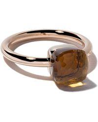 Pomellato - 18kt Rose & White Gold Small Nudo Citrine Quartz Ring - Lyst