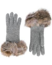 Inverni - Fox Fur-trimmed Gloves - Lyst