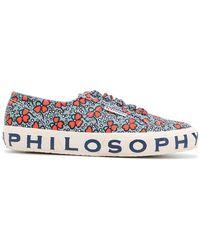 Philosophy Di Lorenzo Serafini - Floral Logo Sneakers - Lyst