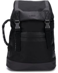 DIESEL - Logo Monochrome Backpack - Lyst
