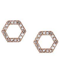 Astley Clarke - 'honeycomb' Diamond Stud Earrings - Lyst