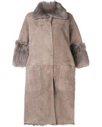 DESA NINETEENSEVENTYTWO - Loose Double-breasted Coat - Lyst
