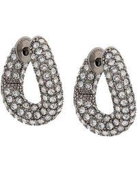 Balenciaga - Crystal Embellished Loop Earrings - Lyst