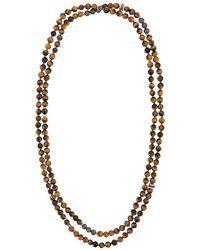 Tateossian - Mesh Beaded Necklace - Lyst