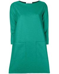 Harris Wharf London - Long Sleeved Shift Dress - Lyst