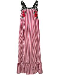 Gaëlle Bonheur - Striped Flared Dress - Lyst