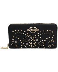 Love Moschino - Stud Embellished Purse - Lyst