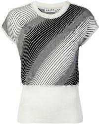 AALTO - Cropped Wrap-effect Sweater - Lyst