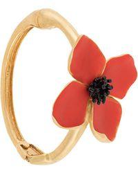 Oscar de la Renta - Painted Flower Bracelet - Lyst